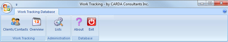 MS Access Work Tracking Log Database – CARDA Consultants Inc