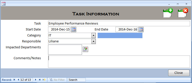 ms access task scheduler    event calendar
