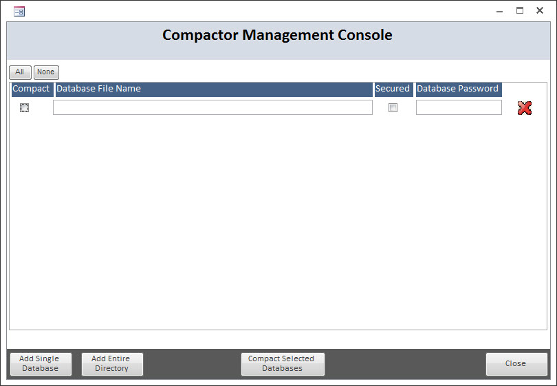 MS Access Database Compactor – CARDA Consultants Inc