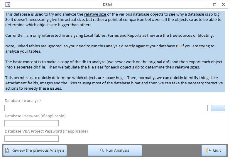MS Access Database Analyzer – CARDA Consultants Inc